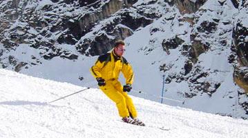 סקי תאונות פציעות גלישה אתרי סקי
