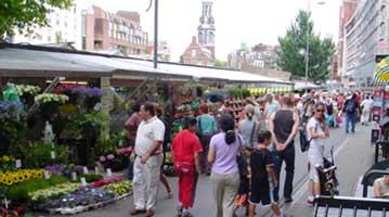 הולנד אמסטרדם שווקים דוכנים שוק הפרחים שוק הפשפשים