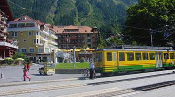 שוויץ אינטרלקן תחבורה אוטובוס רכבת כרטיסי נסיעה